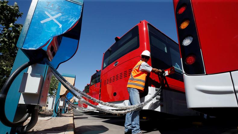 Chinesische E-Busse reduzieren Emissionen in Chile