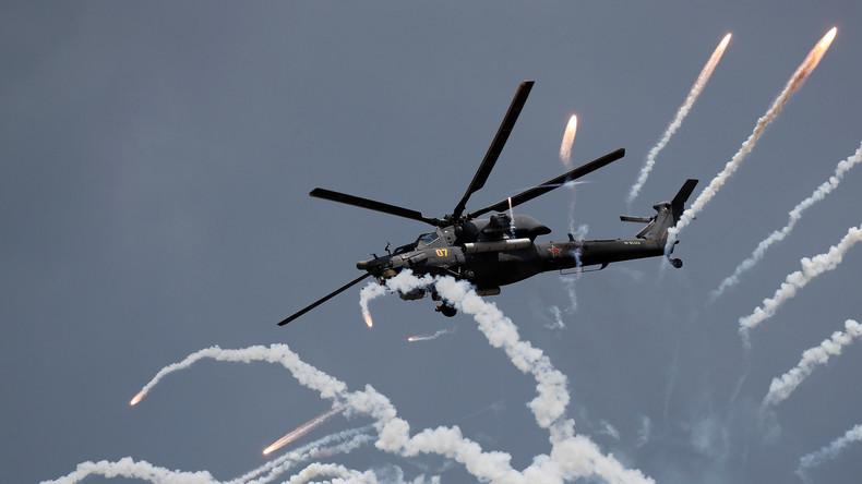 Neuester russischer Hubschrauber Mi-28 testet geheime Panzerabwehrrakete
