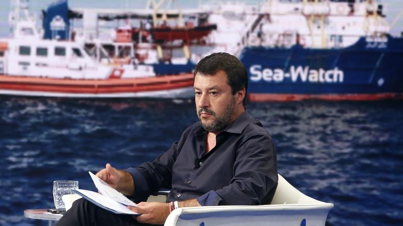 """Stillstand für Flüchtlingsschiff """"Sea-Watch 3"""" vor Lampedusa: Salvini droht EU"""