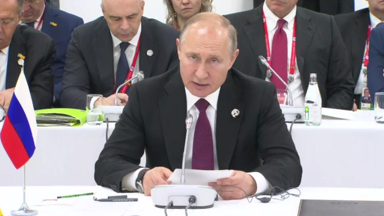 G20 in Osaka: Trump stichelt gegen Huawei – Putin warnt davor, die WTO zu zerstören