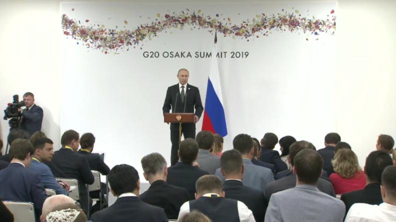 """""""Pragmatisch, sachlich"""" – Putin über sein Treffen mit Trump beim G20-Gipfel"""