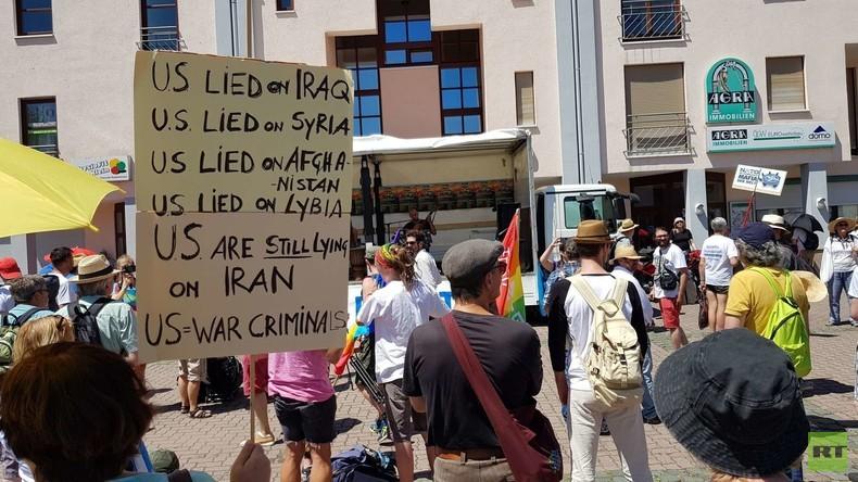 LIVE: Demo gegen US-Militärbasis in Ramstein