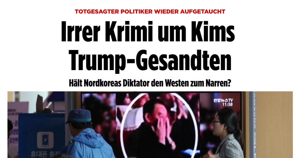 """""""Hält Kim den Westen zum Narren?"""" – Bild macht Nordkorea für eigene Fake News verantwortlich"""