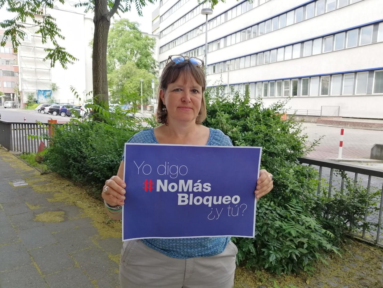 Berlin: Protest gegen US-amerikanische Blockade Kubas