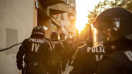 Symbolbild: Polizei in der Rigaer Straße, Berlin