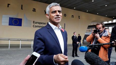 Der Londoner Bürgermeister Sadiq Khan, Brüssel, Belgien, 26. Oktober 2018.