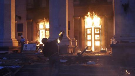 Pogrom in Odessa am 2. Mai 2014.