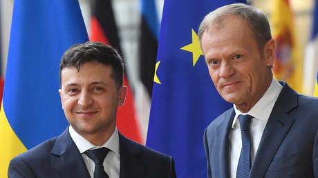 Wladimir Selenskij bei seinem ersten Auslandsbesuch in Brüssel