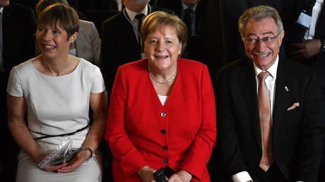 Merkel am Dienstag beim Tag der Deutschen Industrie