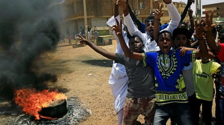 Demonstranten im Sudan