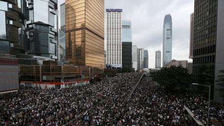 Proteste in Hong Kong, China, 12 Juni 2019.