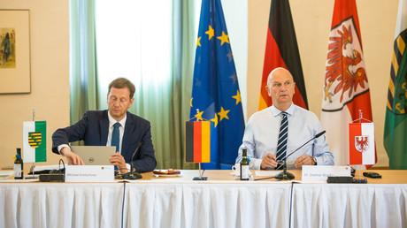 Unterstützung erhielt Sachsens Regierungschef Kretschmer für seine Forderung nach Abbau der Russland-Sanktionen sowohl aus der Wirtschaft als auch von Kollegen wie dem Ministerpräsidenten Brandenburgs.