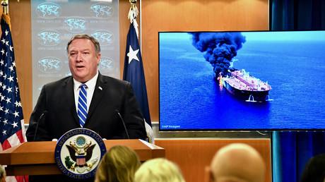 US-Außenminister Mike Pompeo, hier bei einer Pressekonferenz am 13. Juni in Washington,  macht Iran für Angriffe auf Öltanker im Golf von Oman verantwortlich. In den nächsten Tagen wollen die USA weitere Belege liefern.