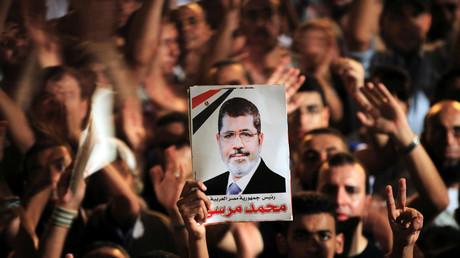 Der ägyptische Präsident Mohammed Mursi Tahrir Platz in Kairo, Ägypten, 13. Juli 2012.