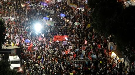 Im Rahmen des Generalstreiks kam es in vielen Städten Brasiliens zu Massendemonstrationen. (Rio de Janeiro, 14. Juni 2019)