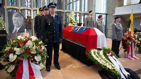 Die Trauerfeier für den erschossenen CDU-Politiker Walter Lübcke fand in der Martinskirche in Kassel statt.