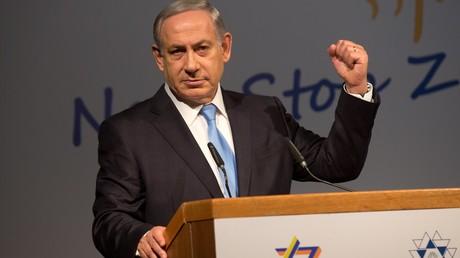 Der israelische Ministerpräsident Benjamin Netanjahu beim 37. Zionistischen Kongress 20. Oktober 2015 in Jerusalem. Der angekündigte