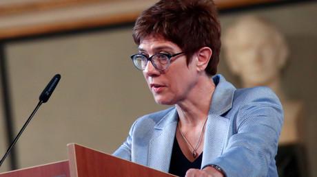 Unter Druck: Kramp-Karrenbauer bei einer Rede im Müchner IFO-Institut im Juni 2019