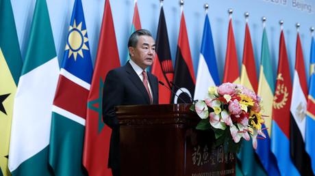 Der chinesische Außenminister Wang Yi sprach am Dienstag auf dem Forum für die Zusammenarbeit zwischen China und Afrika (FOCAC) in Peking.