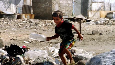 Kind im Shati-Flüchtlingscamp, nahe Gaza-Stadt, 5. September 1993.
