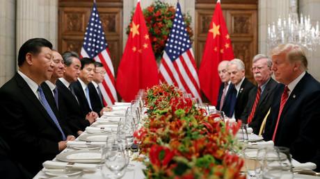 Chinas Präsident Xi Jinping und sein US-amerikanischer Amtskollege Donald Trump (Archivbild)