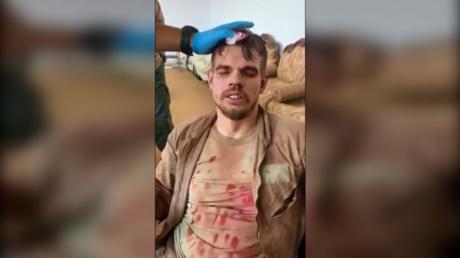 US-Veteran Jamie Sponaugle während des Verhörs. Screenshot von Aufnahmen der LNA