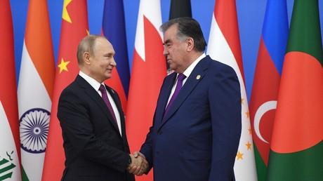 Russlands Präsident Wladimir Putin und sein tadschikischer Amtskollege Emomalij Rahmon