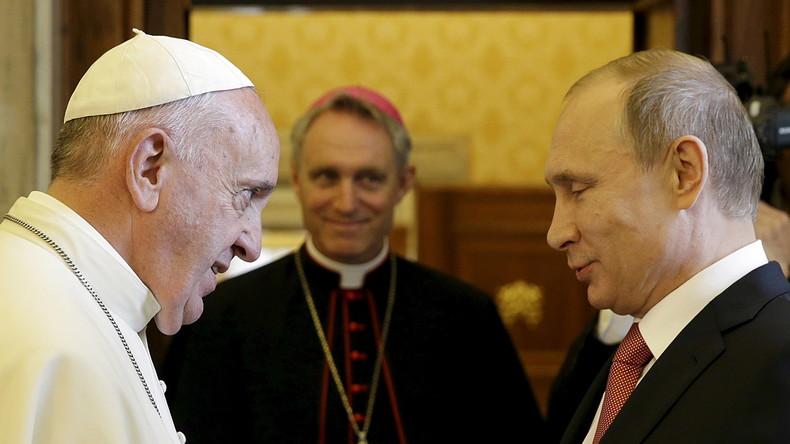 LIVE: PapstFranziskus empfängtWladimir Putin im Vatikan