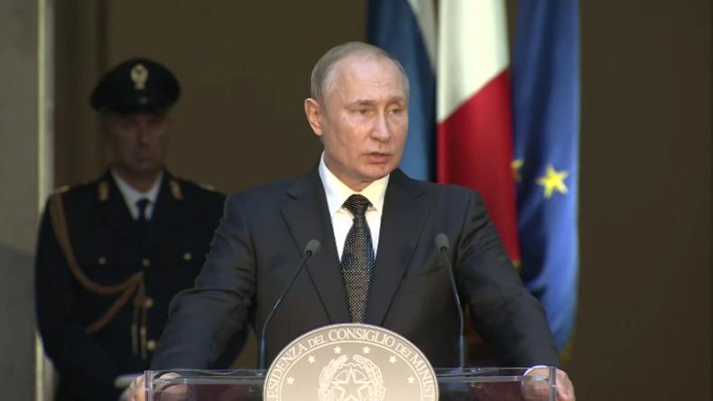 Putin in Italien mit markigen Kommentaren zu Chaos in Libyen und Juan Guaidó in Venezuela