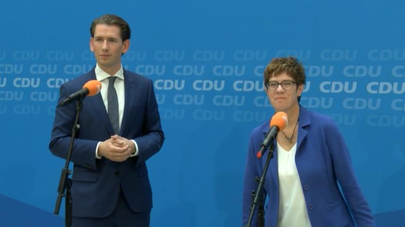 """""""Linksruck wäre schädlich gewesen"""": Kurz und Kramp-Karrenbauer werben für von der Leyens Kandidatur"""
