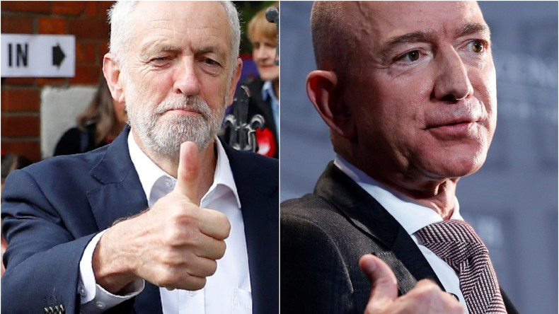 """""""Viele glückliche Steuererklärungen!"""" – Corbyns spezielle Geburtstagsgrüße an Jeff Bezos von Amazon"""
