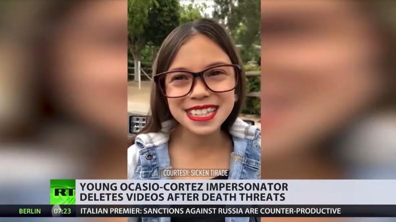 Nach Anfeindungen: 8-jährige Imitatorin von Alexandria Ocasio-Cortez nicht mehr online (Video)