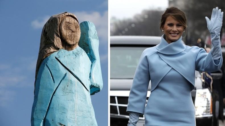 Holzstatue von Melania Trump in Slowenien enttäuscht Landsleute der First Lady