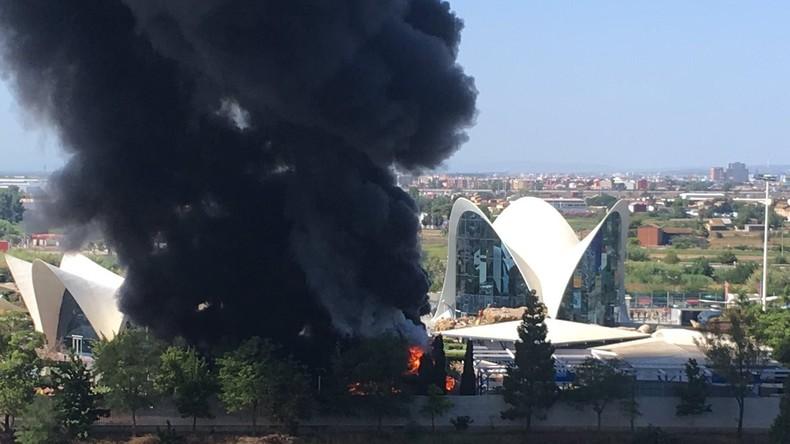 Spanien: Brand am größten Aquarium Europas – knapp 2.000 Menschen evakuiert