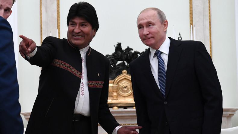 LIVE: Pressekonferenz von Wladimir Putin und Evo Morales