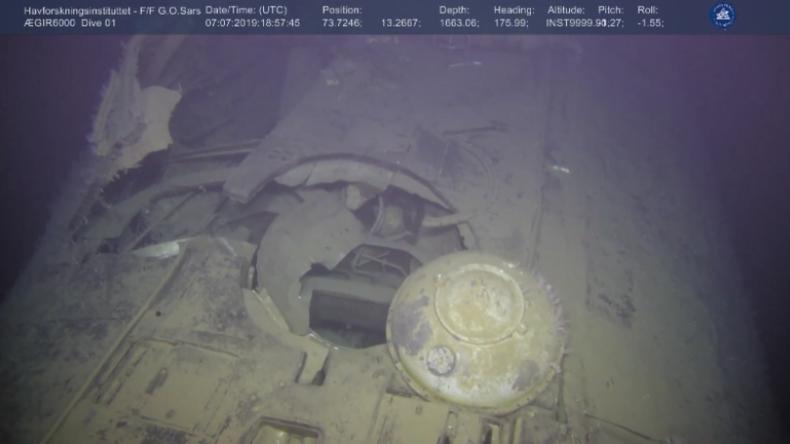 Video zeigt gesunkenes sowjetisches U-Boot, aus dem Strahlung austreten soll