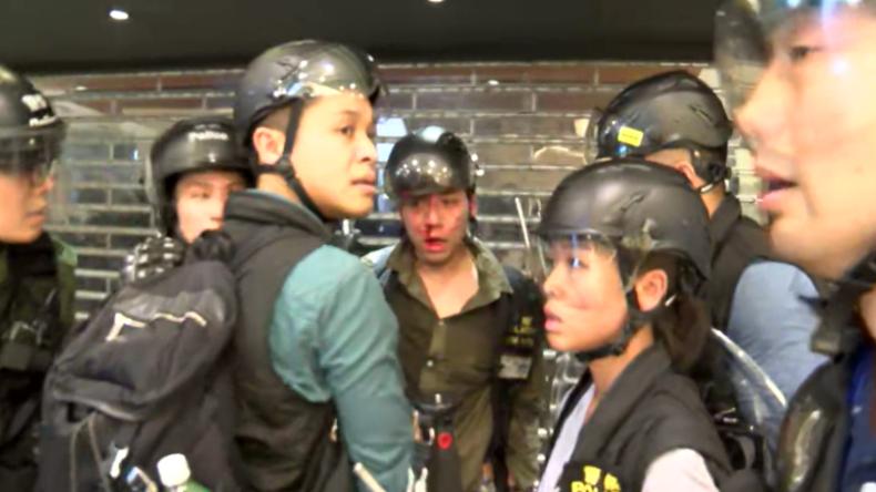 Hongkong: Heftige Zusammenstöße während Demonstrationen gegen Auslieferungen