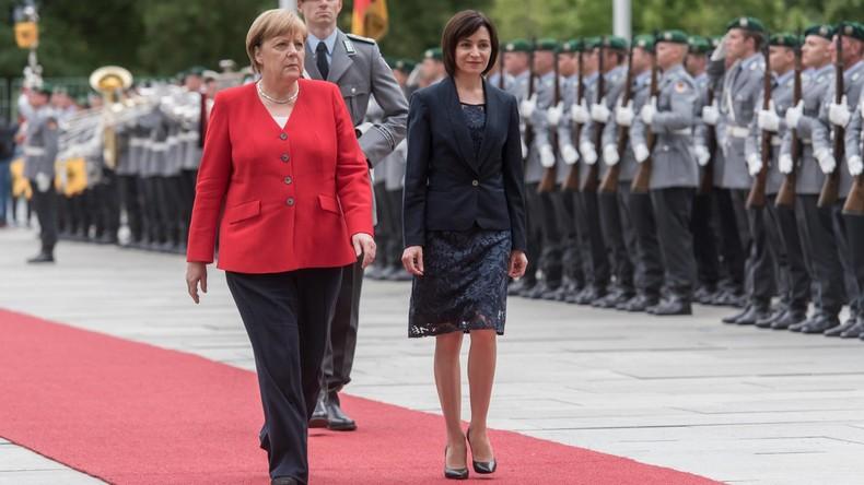 LIVE: Pressekonferenz von Angela Merkel und Ministerpräsidentin der Republik Moldau, Maia Sandu