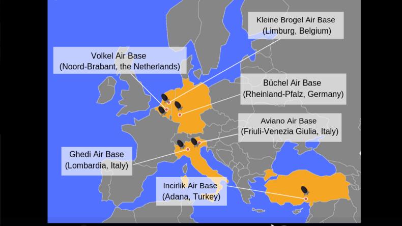 NATO-Beratungsgremium verrät Lageplätze US-amerikanischer Atomwaffen in Europa