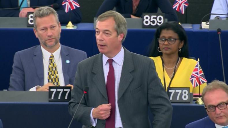 """EU-Parlament: """"Gott sei Dank, wir verlassen diese Union"""" – Farage zu von der Leyens EU-Plänen"""