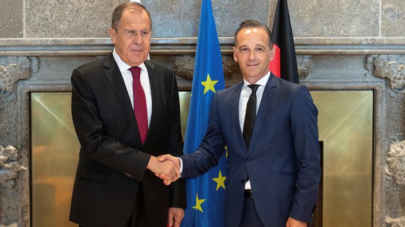 LIVE: Außenminister Maas und Amtskollege Lawrow sprechen beim Petersburger Dialog