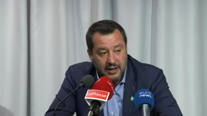 """Salvini über """"Mittelmeer-Vorschlag"""" für Migrationsfrage und russische Wahlbeeinflussung"""
