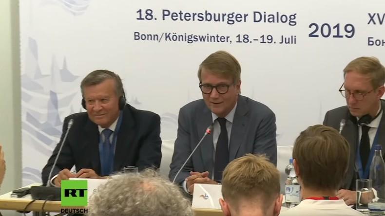 Vorsitzender des Petersburger Dialogs Ronald Pofalla: Zusammenspiel von Dialog und Sanktionen