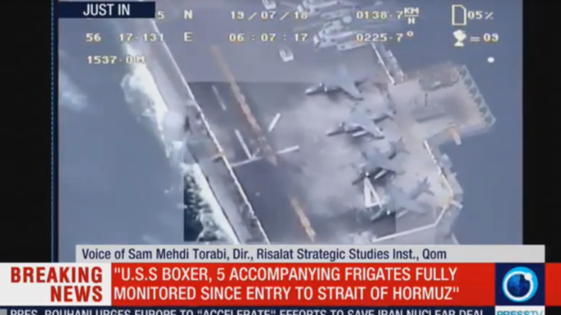 """""""Reine Lüge"""": Iranisches TV zeigt Filmmaterial der Drohne nach angeblichem Abschuss durch USA"""
