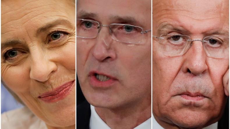 Ursula von der Leyen, Jens Stoltenberg, Sergei Lawrow: Ein Wochenrückblick auf den medialen Abgrund