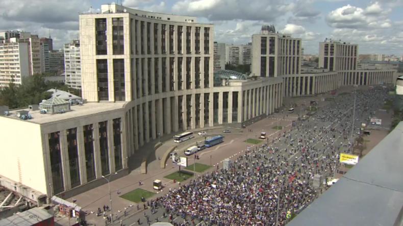 Russland: Tausende protestieren in Moskau nach Wahlausschluss von Oppositionskandidaten