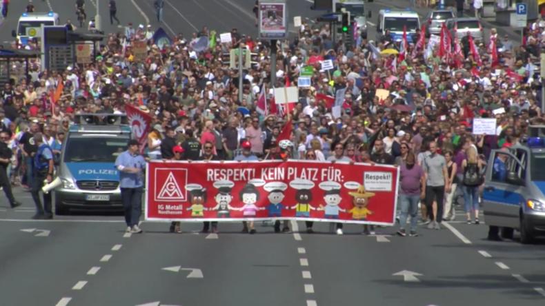 Deutschland: Tausende in Kassel gegen 120 aus der rechten Szene