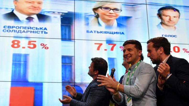 Parlamentswahl in der Ukraine – Partei von Staatschef Selenskij führt mit großem Abstand