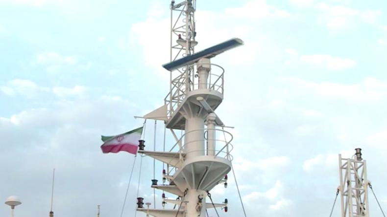 Iranische Flagge weht auf beschlagnahmten britischen Öltanker