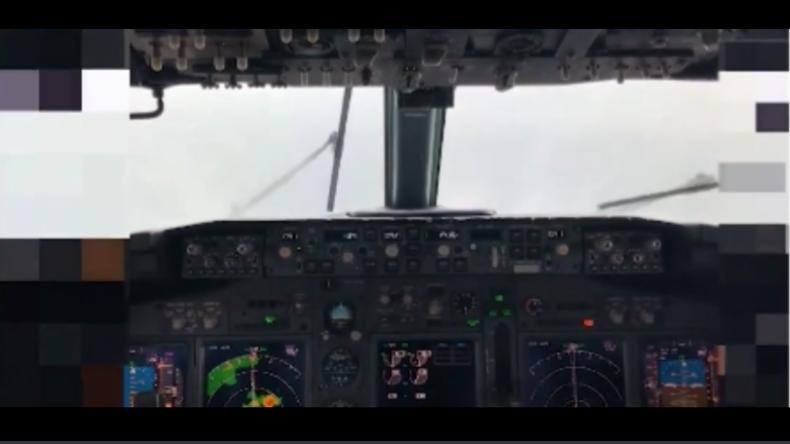 Cockpit-Video aus Boeing 737 zeigt letzte Sekunden vor Sturz ins Meer